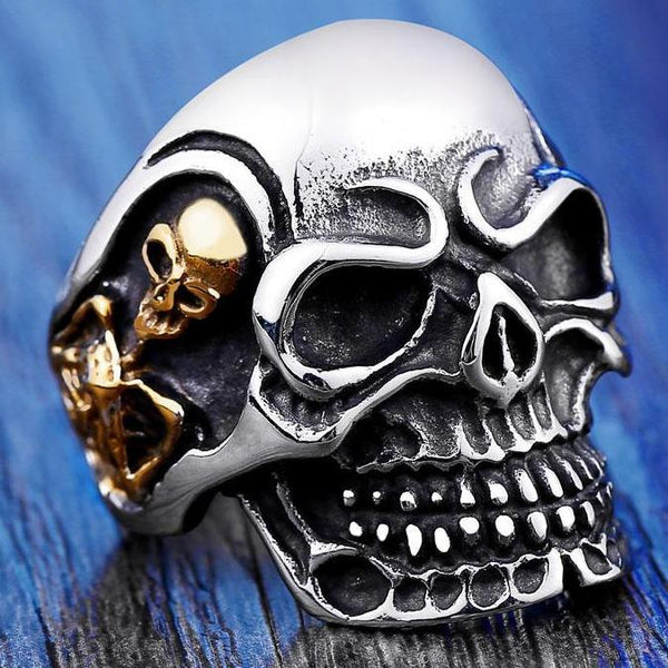 Big Skull Biker Ring II (size 7-14)