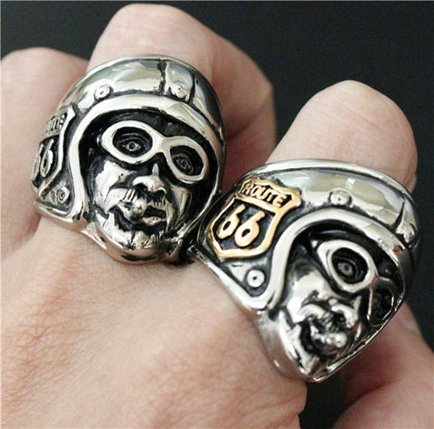 Biker on the Road Biker Ring (Size 7-14)