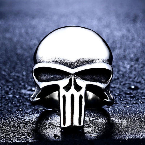 The Punisher Stare Biker Ring (size 7-13) - Shopy Bay