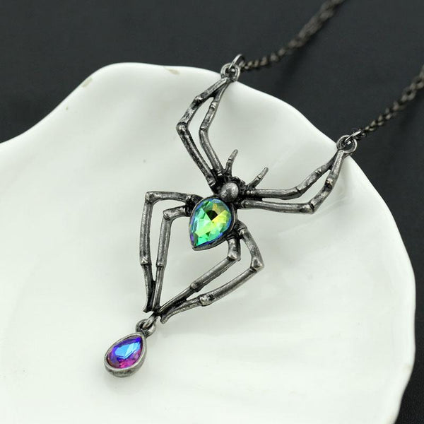 Crystal Spider Necklace