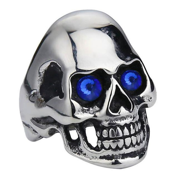 Hard Headed Skull Biker Ring (size 6-15)