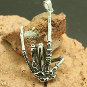 Mens Boys 316L Stainless Steel Cool Ghost Claw Cool Silver Ring