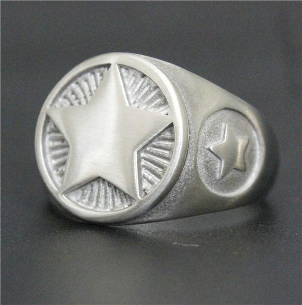 Ranking Star Biker Ring (size 7-13)