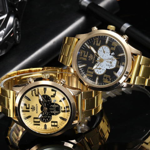 Golden Luxury Watch