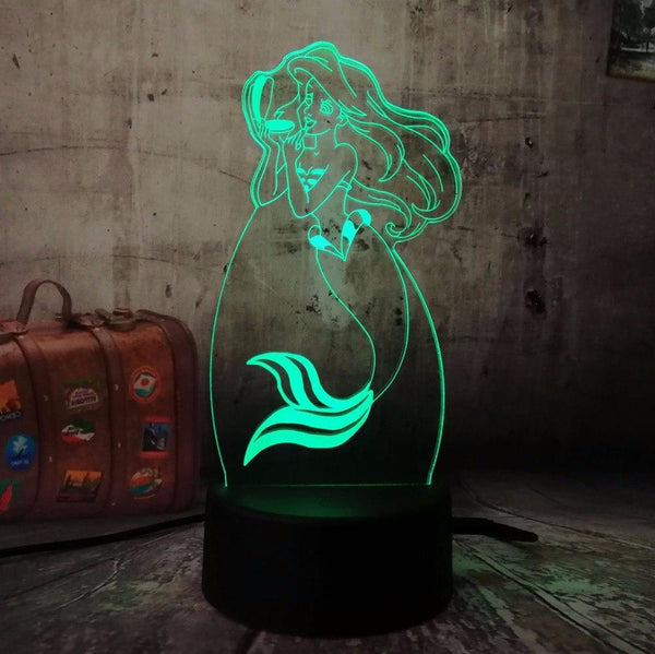 Pretty Mermaid Table Lamp