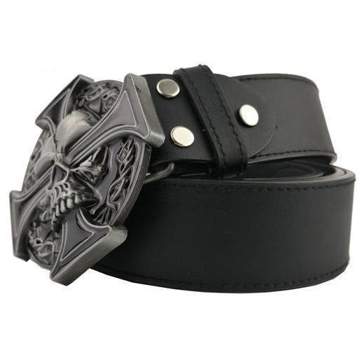 Cross Skull Belt & Buckle