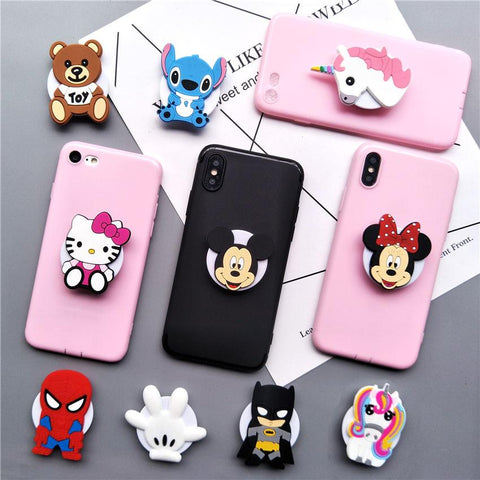 Lovely Cartoon iPhone Case w/ Stand & Hand Grip