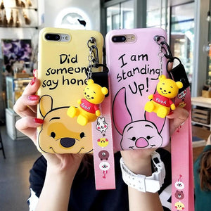 Durable Charming iPhone Case With Strap and Toy Stand
