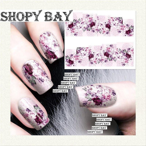 Pink Abstract Water Transfer Nail Art (Price Include Shipping) - Shopy Bay