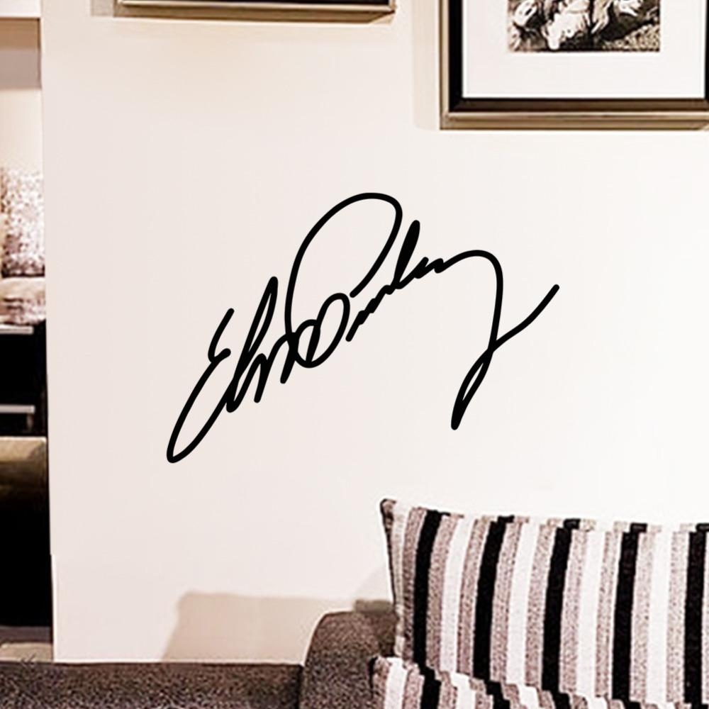 Z all items tagged posters stickers shopy bay elvis signature wall sticker amipublicfo Images