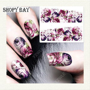 Flowery Water Transfer Nail Art (Price Include Shipping) - Shopy Bay