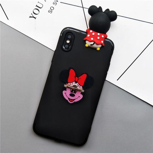 Black & Cute Galaxy Case with Ring