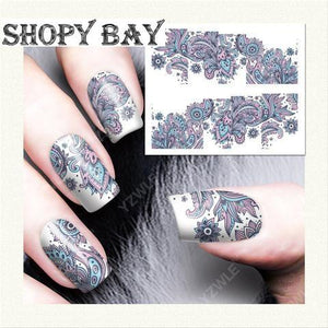 Artistic Titanium Style Water Transfer Nail Art (Price Include Shipping) - Shopy Bay