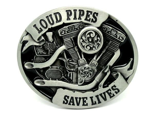 Loud Pipes Motorcycle Engine Belt Buckle