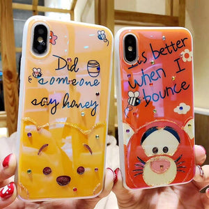 Sweet Unlikely Friends iPhone Case