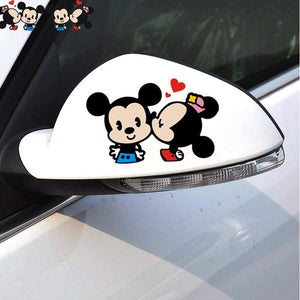 2 Piece Cute kissing Mouse Car Sticker