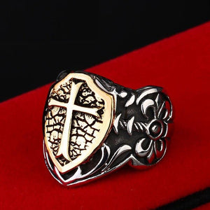 Soldier Shield Biker Ring (Size 7-13) - Shopy Bay