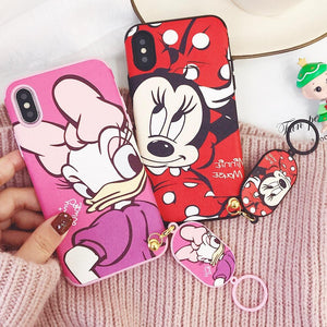 Soft Cutie iPhone Case with Strap Finger Ring