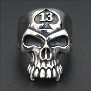 Alien Skull 13 Biker Ring (Size 8-14) - Shopy Bay