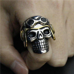 Dead Pilot On The Go Biker Ring (size 8-14)