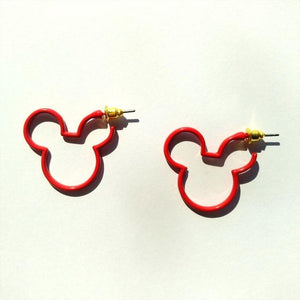Fiery Red Earrings