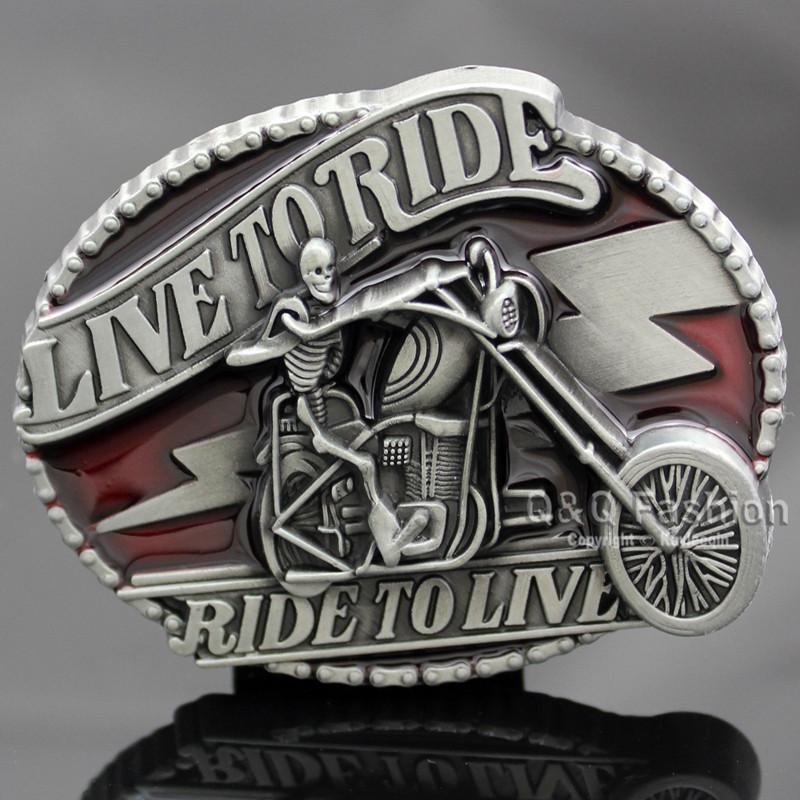 Live & Ride to Live Belt Buckle - Shopy Bay