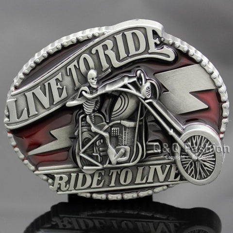 Live & Ride to Live Belt Buckle