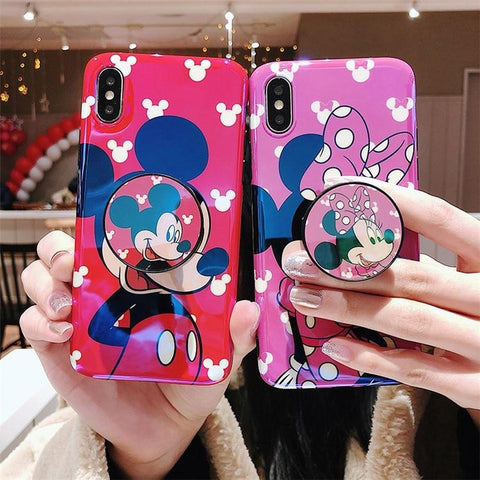 Cute Glossy Silicone iPhone Case with or without Holder