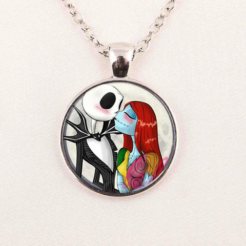 Nightmare Before Christmas Cabochon Necklace
