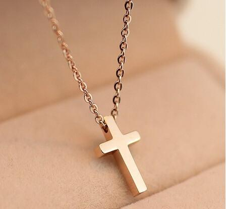 Titanium Gold Plated Women Cross Blessing Necklace - Shopy Bay