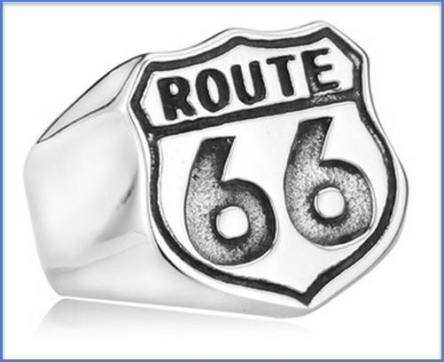 Route 66 Stainless Steel Biker Ring (sizes 7-13) - Shopy Bay