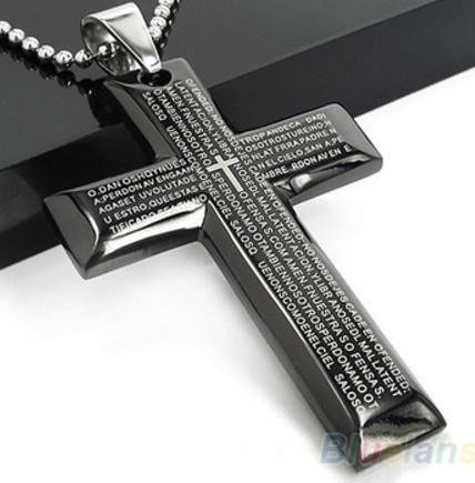 Stainless Steel Bible Cross Necklace