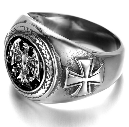Stainless Steel Vintage Eagle Biker Ring (sizes 8-13)