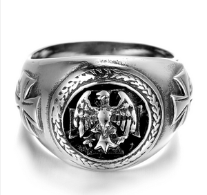 Stainless Steel Vintage Eagle Biker Ring (sizes 8-13) - Shopy Bay