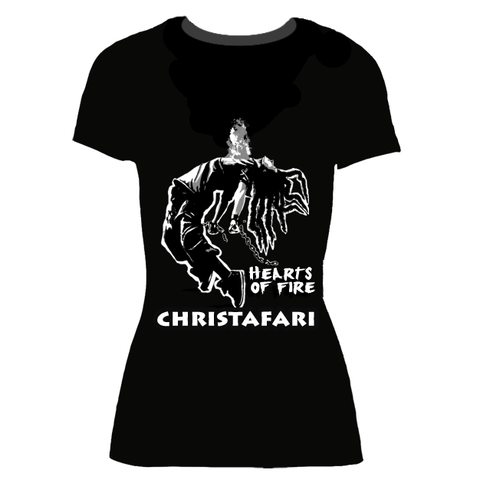 Women's Christafari Hearts of Fire Black T-shirt