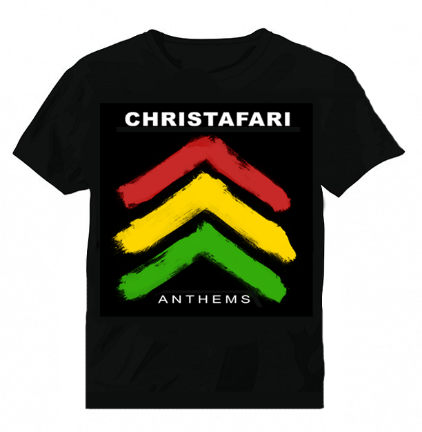 [T-Shirt]: BLACK - Men's Christafari - Anthems Red Gold and Green