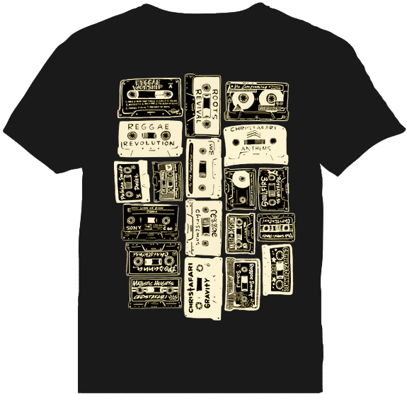 BLACK - Men's Cassette T-Shirt