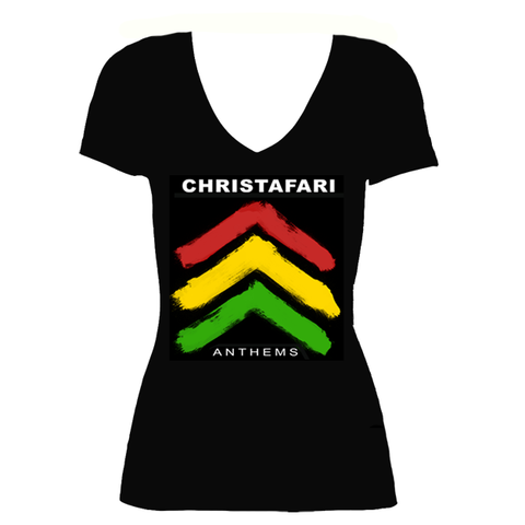 [T-Shirt]: BLACK Women's Christafari Anthems