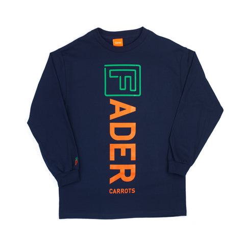 The FADER x Carrots Long Sleeve Shirt (Navy) - The FADER  - 1