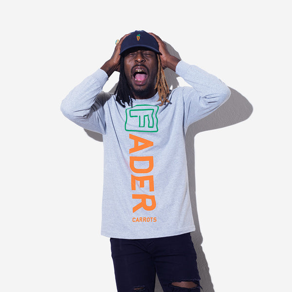 The FADER x Carrots Long Sleeve Shirt (Gray) - The FADER  - 3