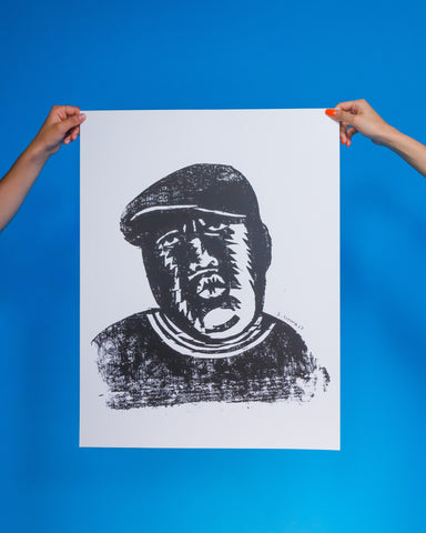 "Notorious B.I.G. Woodcut by Seymour Chwast 20"" x 26"" Print"