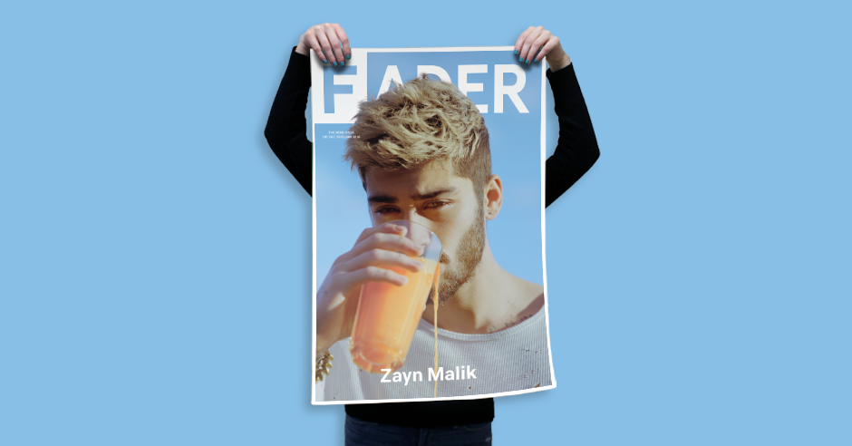 zayn malik the fader issue 101 cover 20 x 30 poster