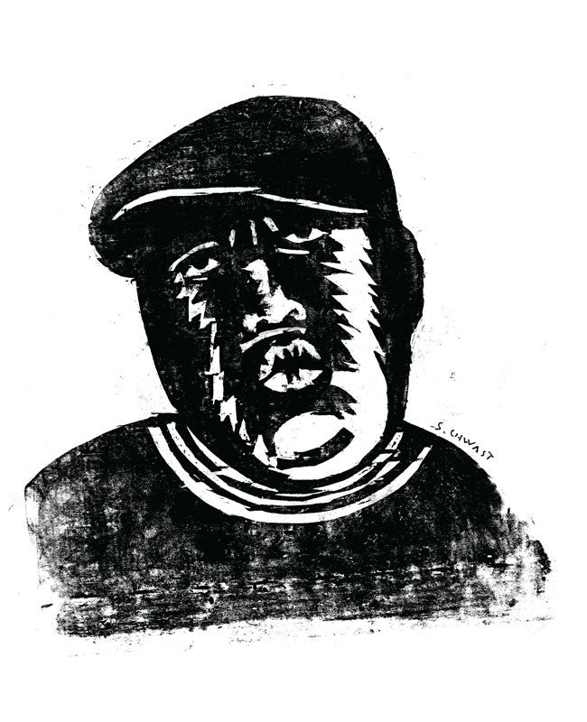 Issue 073: Notorious BIG Woodcut by Seymour Chwast - The FADER