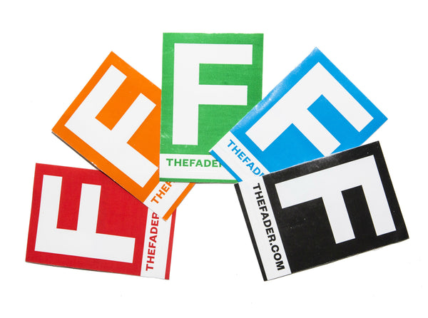 The FADER Sticker Pack - The FADER