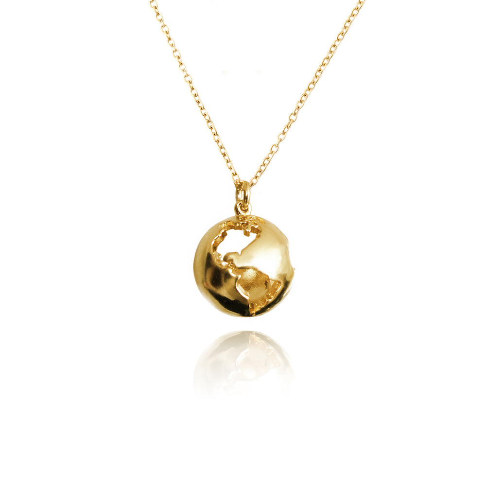 World Globe Necklace by Cristina Ramella
