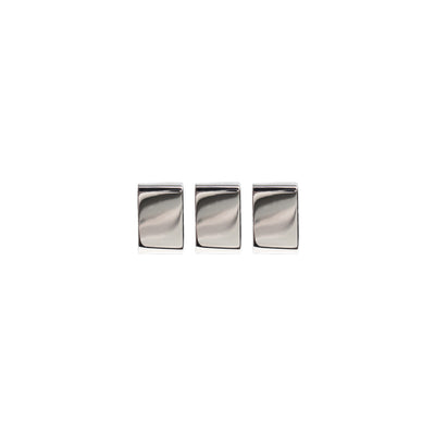 Rhodium Plated 3 Bricks Simple by Cristina Ramella