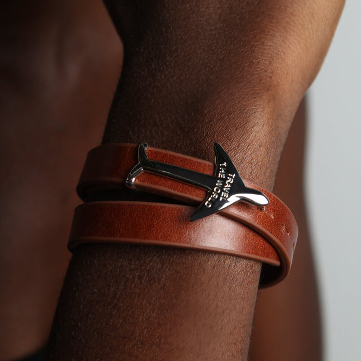 Map Leather Bracelet by Cristina Ramella