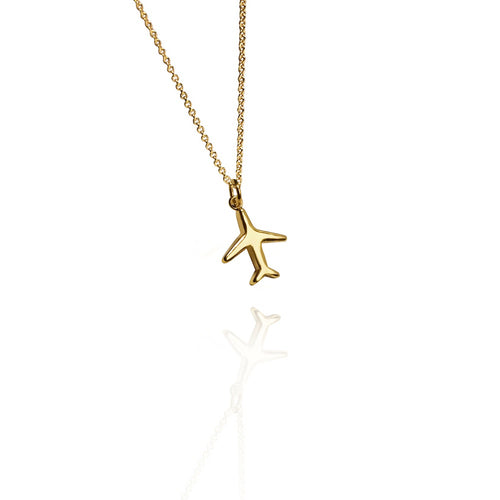 airplane necklace gold cristina ramella jewelry travel the world modern