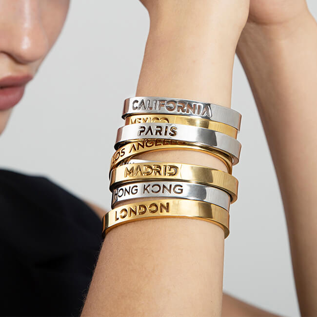 24K Gold Plated Madrid Bangle by Cristina Ramella