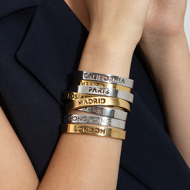 Sample 24K Gold Plated London Bracelet by Cristina Ramella